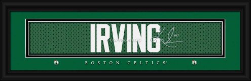 Boston Celtics Irving Framed Signature Nameplate
