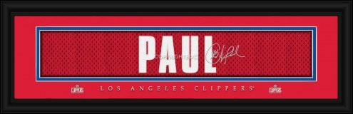 Los Angeles Clippers Paul Framed Signature Nameplate