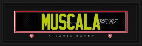 Atlanta Hawks Muscala Framed Signature Nameplate