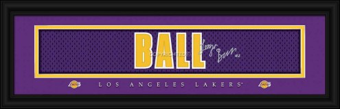 Los Angeles Lakers Ball Framed Signature Nameplate