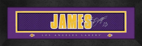 Los Angeles Lakers James Framed Signature Nameplate