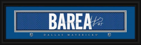 Dallas Mavericks Barea Framed Signature Nameplate