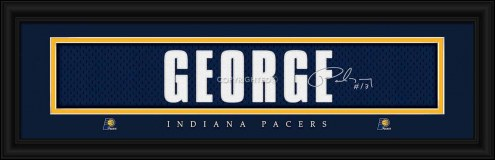 Indiana Pacers George Framed Signature Nameplate