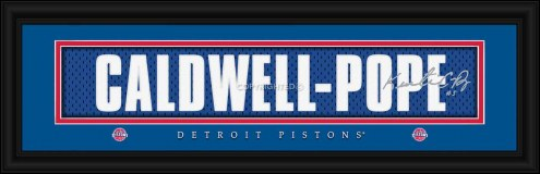 Detroit Pistons Caldwell Pope Framed Signature Nameplate
