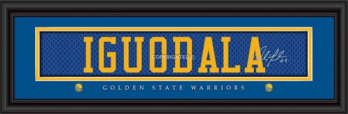 Golden State Warriors Iguodala Framed Signature Nameplate