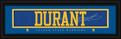 Golden State Warriors Durant Framed Signature Nameplate