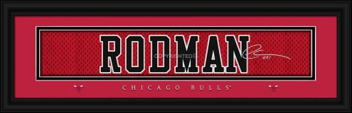 Chicago Bulls Rodman Framed Signature Nameplate