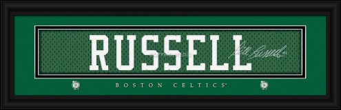 Boston Celtics Russell Framed Signature Nameplate