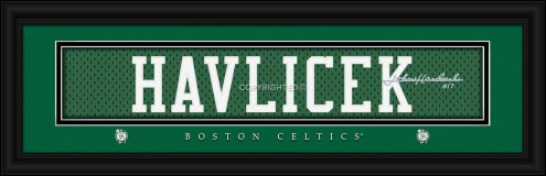 Boston Celtics Havlicek Framed Signature Nameplate