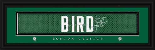 Boston Celtics Bird Framed Signature Nameplate