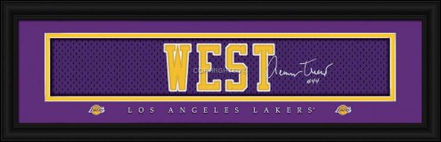 Los Angeles Lakers West Framed Signature Nameplate