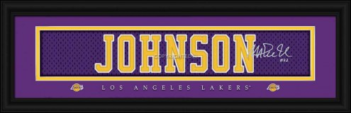 Los Angeles Lakers Johnson Framed Signature Nameplate