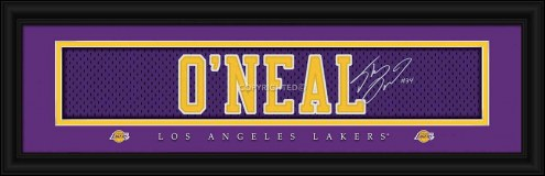 Los Angeles Lakers O'Neal Framed Signature Nameplate