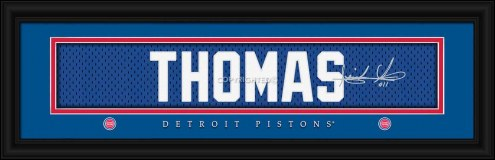 Detroit Pistons Thomas Framed Signature Nameplate