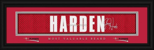 Houston Rockets Harden Beard Framed Signature Nameplate