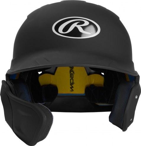 Rawlings Mach Junior One-Tone Right Flap Baseball Batting Helmet - Left Handed Batter