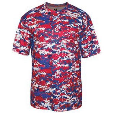 Badger Sport Youth Digital Camo Short Sleeve T-Shirt