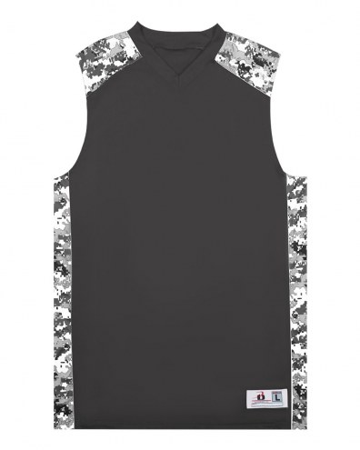 Badger Sport Adult Digital Camo Custom Basketball Jersey