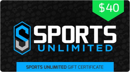 $40 Sports Unlimited Gift Certificate