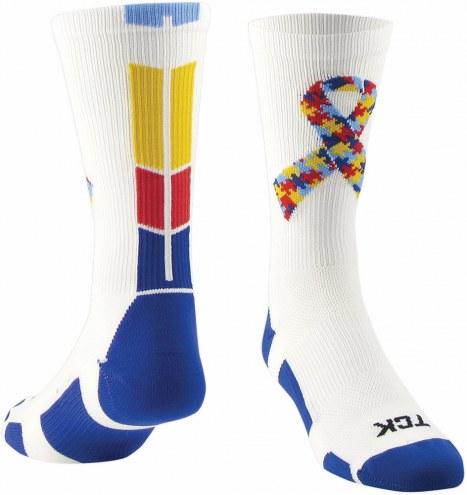 Twin City Autism Ribbon Crew Socks