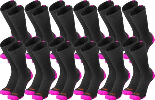 Twin City Baseline Breast Cancer Awareness Crew Socks