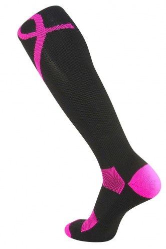 Twin City Breast Cancer Awareness Over-Calf Socks