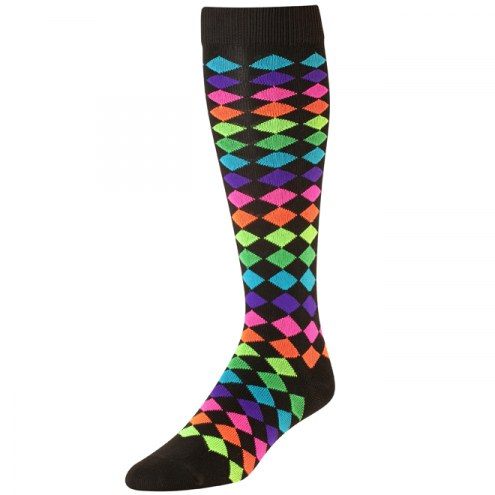 Twin City Krazisox Diamonds Over-Calf Socks