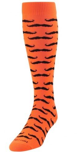 Twin City Mustache Over the Calf Socks