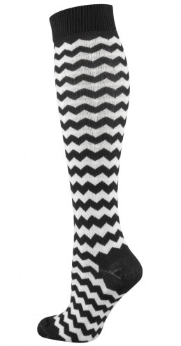 Twin City Chevron Over the Calf Socks