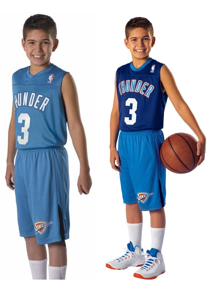 22005f96d Alleson NBA Logo Reversible Youth and Adult Basketball Uniform