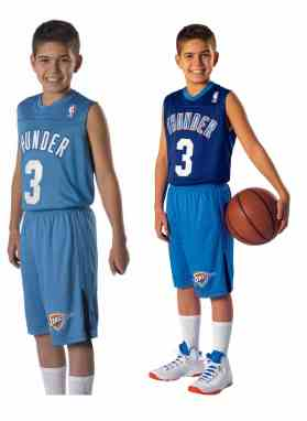 3d563b78d7c Alleson NBA Logo Reversible Youth and Adult Basketball Uniform