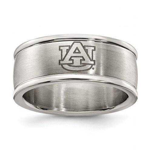 Auburn Tigers Stainless Steel Logo Ring