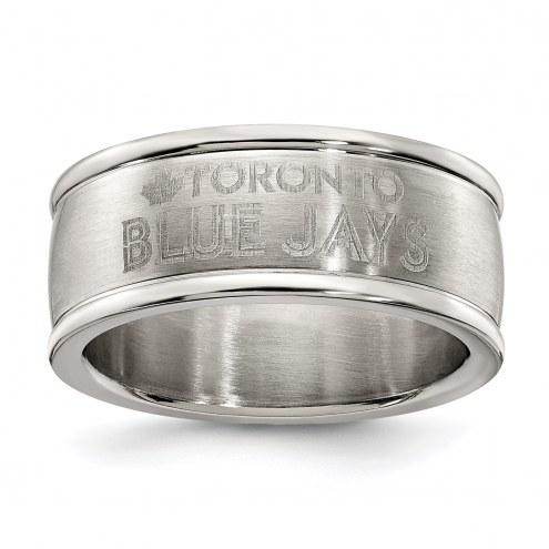 Toronto Blue Jays Stainless Steel Logo Ring