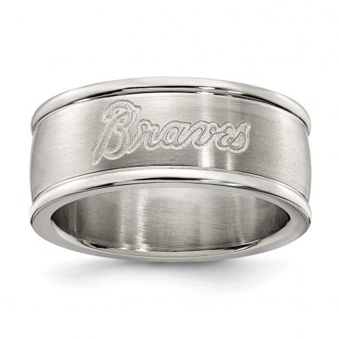Atlanta Braves Stainless Steel Logo Ring