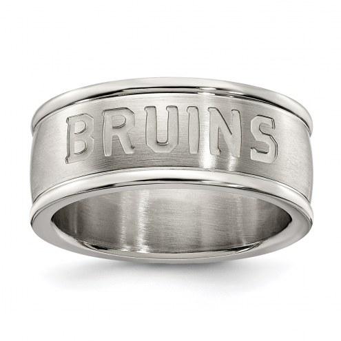 Boston Bruins Stainless Steel Logo Ring
