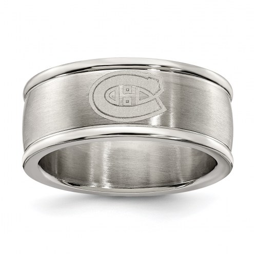 Montreal Canadiens Stainless Steel Logo Ring
