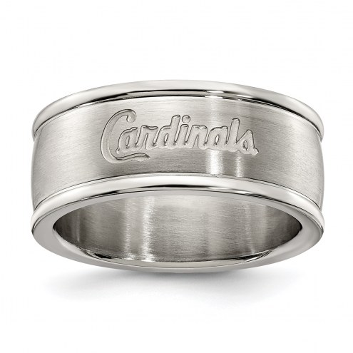St. Louis Cardinals Stainless Steel Logo Ring