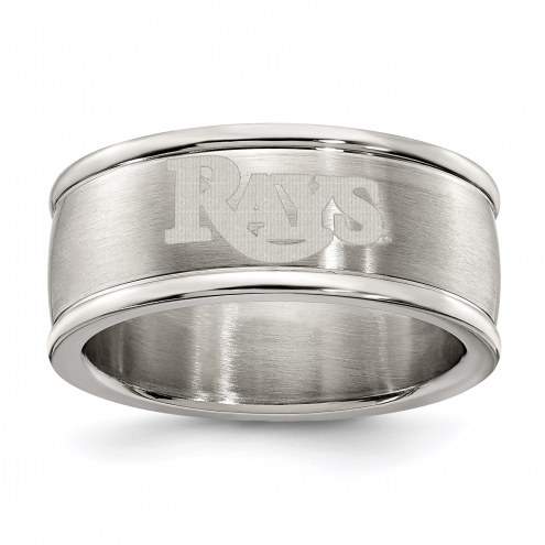 Tampa Bay Rays Stainless Steel Logo Ring