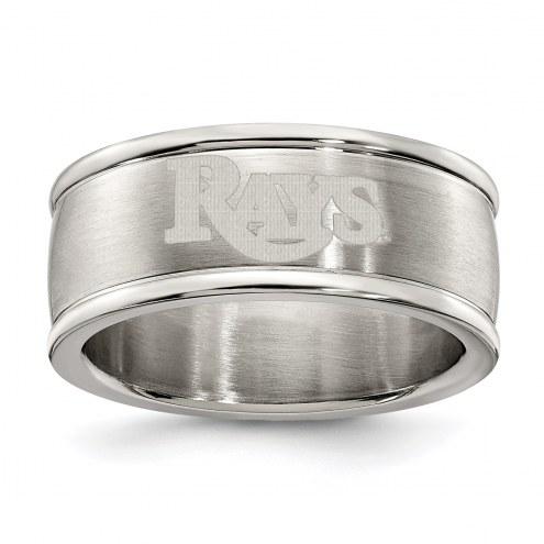 Tampa Bay Rays Stainless Steel Logo Ring