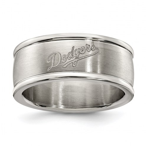 Los Angeles Dodgers Stainless Steel Logo Ring
