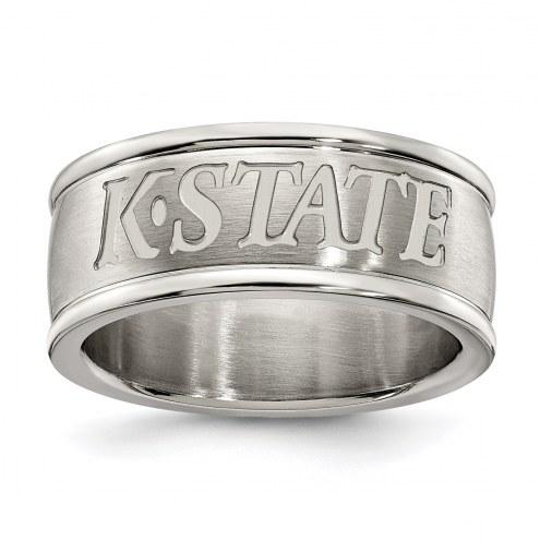 Kansas State Wildcats Stainless Steel Logo Ring