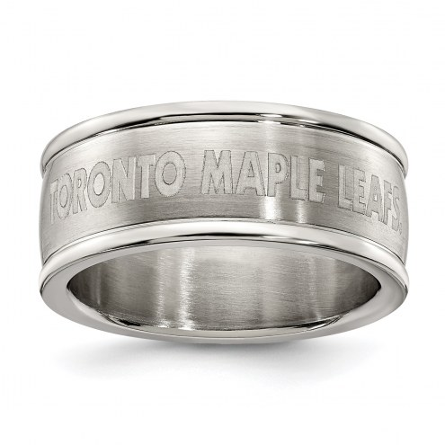 Toronto Maple Leafs Stainless Steel Logo Ring