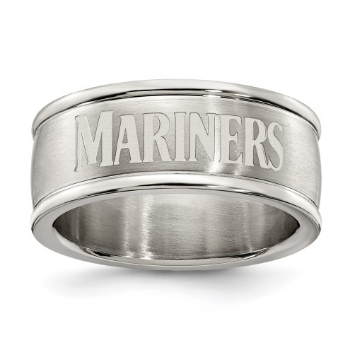 Seattle Mariners Stainless Steel Logo Ring