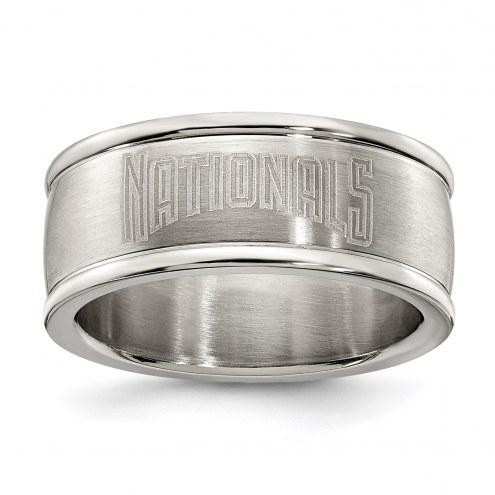 Washington Nationals Stainless Steel Logo Ring
