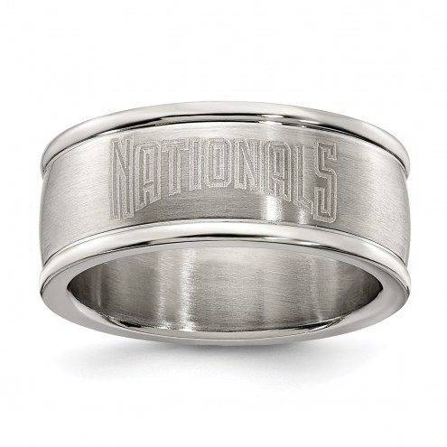 Washington Nationals Stainless Steel Logo Ring