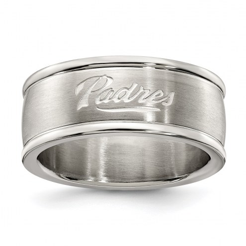 San Diego Padres Stainless Steel Logo Ring