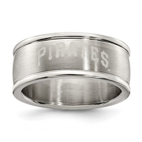 Pittsburgh Pirates Stainless Steel Logo Ring