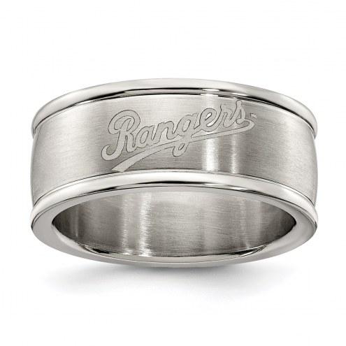 Texas Rangers Stainless Steel Logo Ring