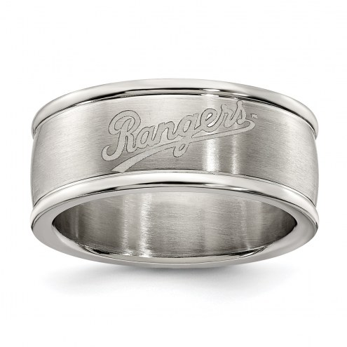 Texas Rangers Stainless Steel Logo Ring