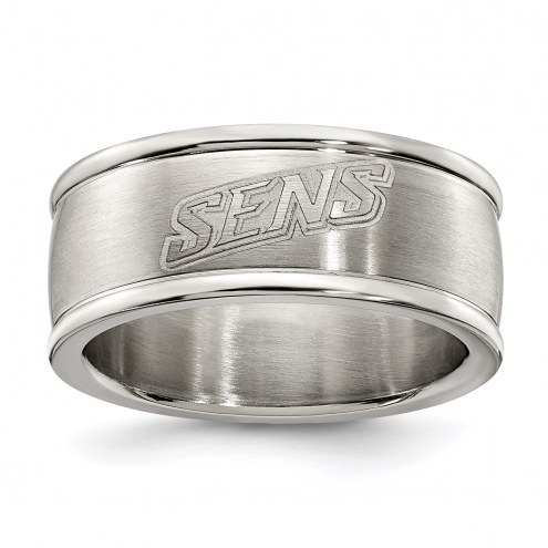Ottawa Senators Stainless Steel Logo Ring